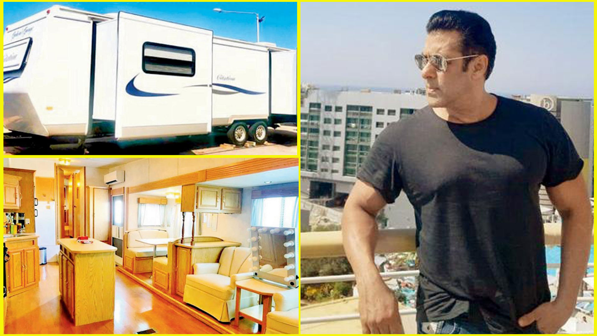 These Photos Of Salman Khan's New Luxurious Vanity Van Will Make Your Day! Inside Pics!